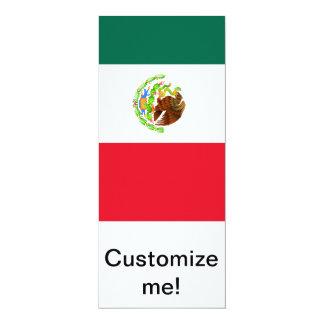 Bandera mexicana invitación 10,1 x 23,5 cm