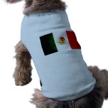 Bandera mexicana nerviosa moderna camiseta de mascota