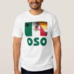 Bandera mexicana Oso del orgullo del oso Camisas