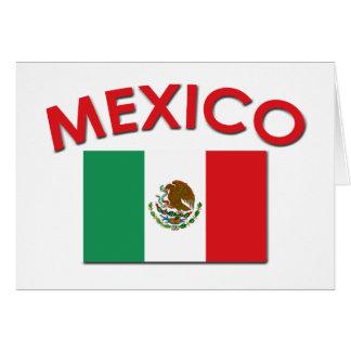 Bandera mexicana (roja) felicitacion