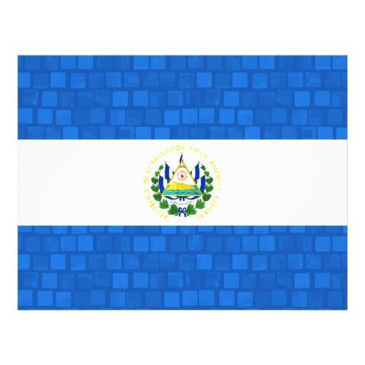 Bandera moderna de salvadoreño del modelo flyer a todo color