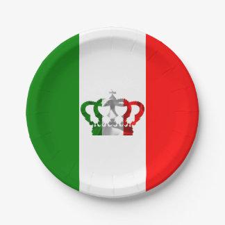Bandera moderna del italiano de Italia de la Plato De Papel