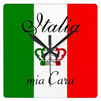 Bandera moderna del italiano de Italia de la Reloj Cuadrado
