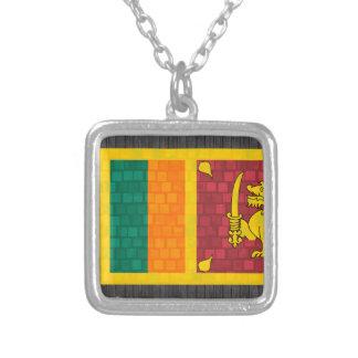 Bandera moderna del Sri Lankan del modelo Collar Plateado