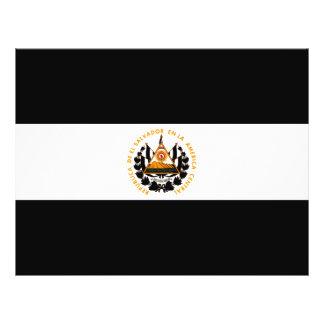 Bandera monocromática de El Salvador Tarjeton