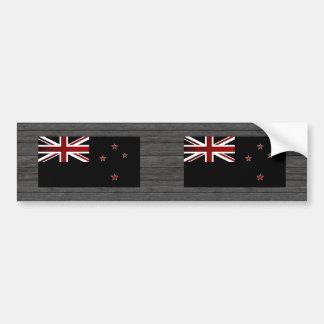 Bandera monocromática de Nueva Zelanda Pegatina Para Coche
