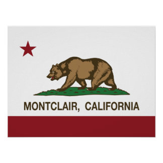 Bandera Montclair del estado de California Póster