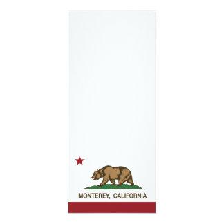 Bandera Monterey del estado de California Invitación 10,1 X 23,5 Cm