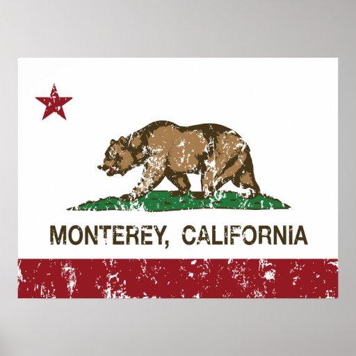 Bandera Monterey del estado de California Posters