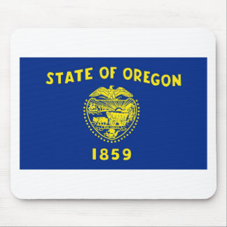 Bandera Mousepad del estado de Oregon Tapetes De Raton