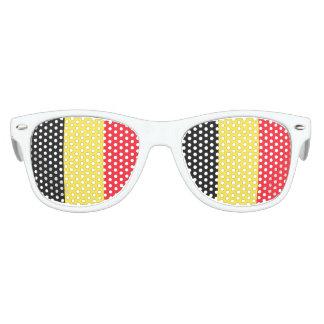 Bandera nacional de Bélgica Gafas De Fiesta Retro
