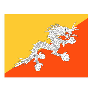 Bandera nacional de Bhután Postal