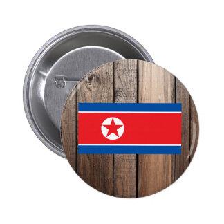 Bandera nacional de Corea del Norte Chapa Redonda 5 Cm