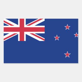Bandera nacional de CUATRO Nueva Zelanda Pegatina Rectangular