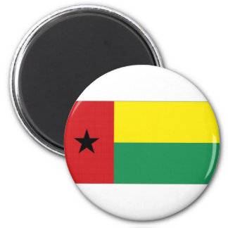 Bandera nacional de Guinea-Bissau Imán Redondo 5 Cm