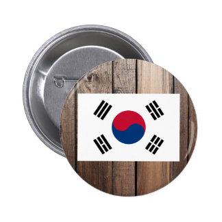 Bandera nacional de la Corea del Sur Chapa Redonda 5 Cm