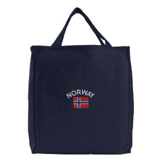 Bandera nacional de Noruega Bolsa De Tela Bordada