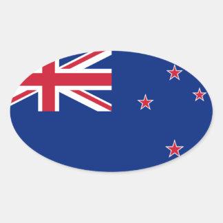 Bandera nacional de Nueva Zelanda Calcomanías De Ovales Personalizadas