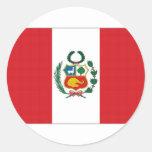 Bandera nacional de Perú Pegatina Redonda