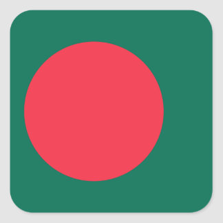 Bandera nacional del mundo de Bangladesh Pegatina Cuadrada