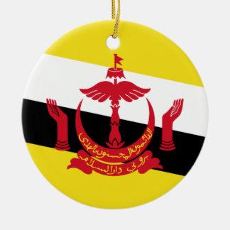 Bandera nacional del mundo de Brunei Adorno De Cerámica