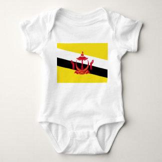 Bandera nacional del mundo de Brunei Body Para Bebé