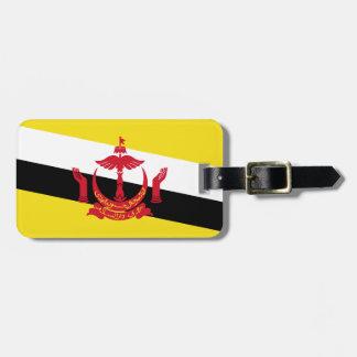 Bandera nacional del mundo de Brunei Etiqueta Para Maletas