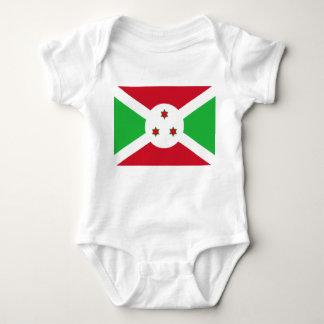 Bandera nacional del mundo de Burundi Body Para Bebé