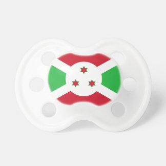 Bandera nacional del mundo de Burundi Chupete