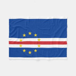 Bandera nacional del mundo de Cabo Verde Manta Polar