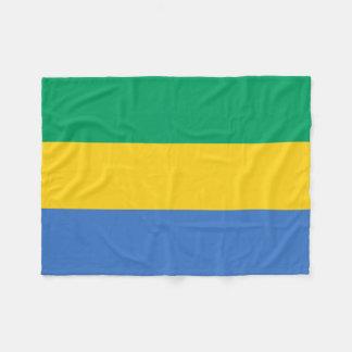 Bandera nacional del mundo de Gabón Manta Polar