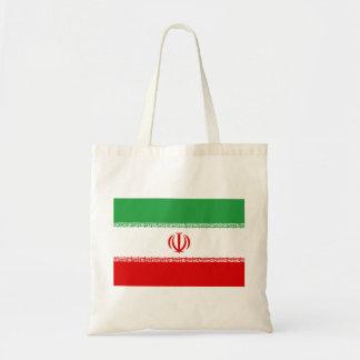 Bandera nacional del mundo de Irán Bolso De Tela