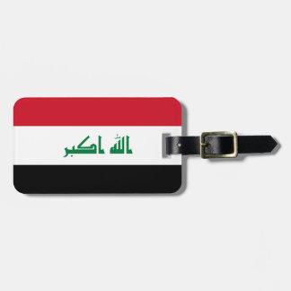 Bandera nacional del mundo de Iraq Etiqueta Para Maletas