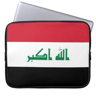 Bandera nacional del mundo de Iraq Funda Para Portátil