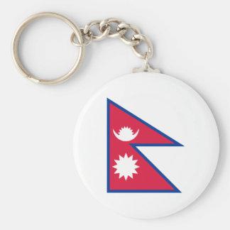 Bandera nacional del mundo de Nepal Llavero Redondo Tipo Chapa