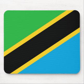Bandera nacional del mundo de Tanzania Alfombrilla De Ratón
