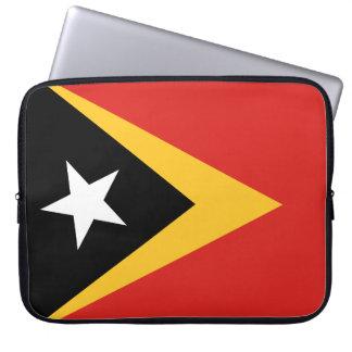 Bandera nacional del mundo de Timor Oriental Funda Para Ordenador