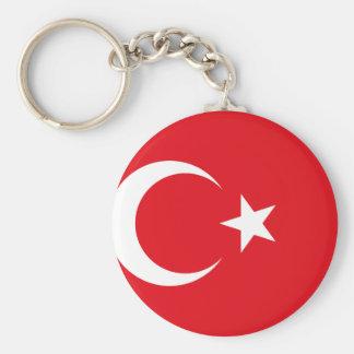 Bandera nacional del mundo de Turquía Llavero Redondo Tipo Chapa
