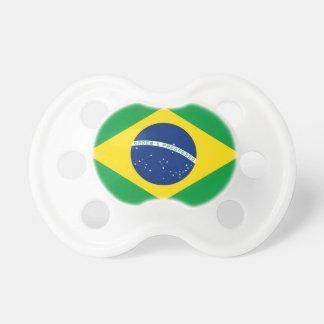 Bandera nacional del mundo del Brasil Chupete