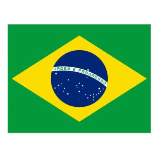 Bandera nacional del mundo del Brasil Postal