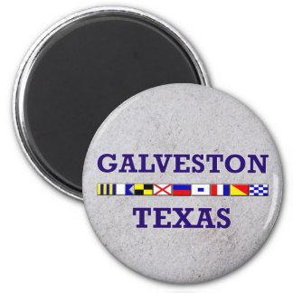 Bandera náutica de Galveston - imán de la arena