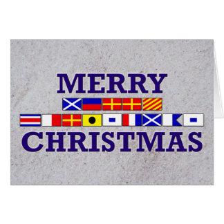 Bandera náutica - tarjeta de Navidad de Sandy