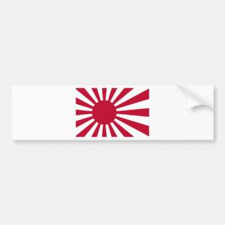 Bandera naval de Japón - bandera japonesa del sol Pegatina Para Coche