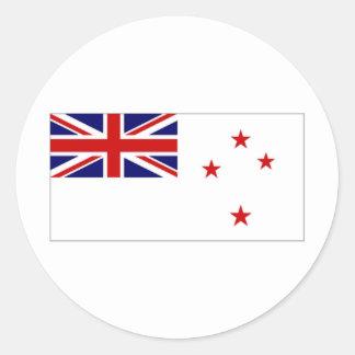 Bandera naval de Nueva Zelanda Pegatinas Redondas