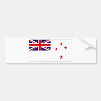 Bandera naval de Nueva Zelanda Pegatina Para Coche