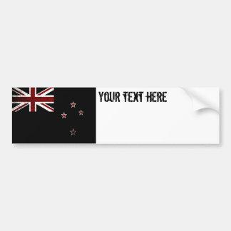 Bandera negra 2 de Nueva Zelanda del Grunge Pegatina Para Coche