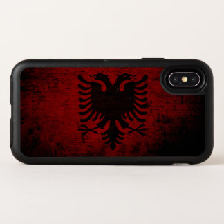 Bandera negra de Albania del Grunge