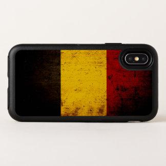 Bandera negra de Bélgica del Grunge