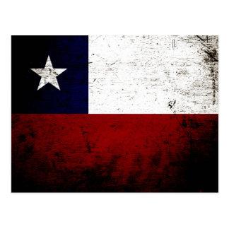 Bandera negra de Chile del Grunge Postal