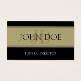 Bandera negra/de oro de la funeraria tarjeta de negocios